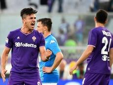 Giovanni Simeone pourrait quitter Fiorentina. AFP