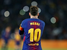 Leo Messi, o rei do Camp Nou. AFP