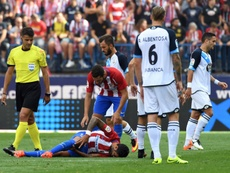 Augusto Fernandez suffered the injury in the 14th minute. AFP