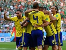 Sweden overcame Mexico. AFP
