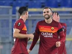 Victoria contundente de la Roma en la Europa League. AFP
