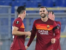 Borja Mayoral foi protagonista da Roma contra o Cluj. AFP