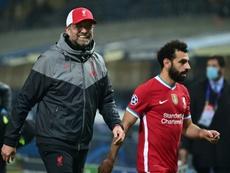 Salah is top with 13 goals. AFP