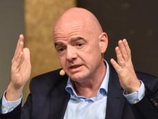 El coronavirus trastocó los planes de la FIFA. AFP