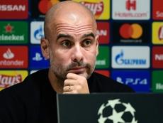 Guardiola fala sobre a recuperação de De Bruyne e Laporte. AFP