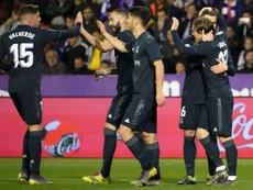 O Real saiu com os três pontos de Valladolid. AFP