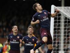 A Ramsey no paran de salirle novias. AFP