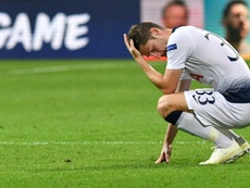 Tottenham's Ben Davies after their stoppage time defeat by Inter Milan. AFP