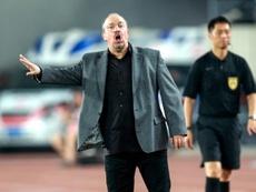 Rafael Benítez cae de la Copa China. AFP