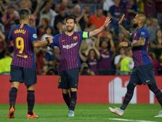 El Barça volvió a arrancar con goleada en la máxima competición continental. AFP