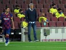 Setién has a plan for the Champions League match. AFP