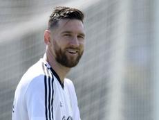 Messi, prêt à retrouver l'équipe d'Argentine. AFP