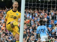 Joe Hart's career has declined rapidly in the last few years. AFP