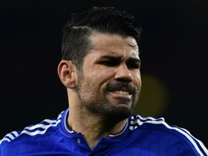 Diego Costa, en estado puro. AFP