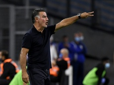 Galtier satisfait du match nul contre le Celtic. AFP