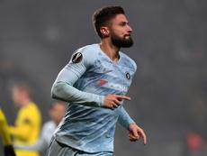 Giroud's goal saw Chelsea victors in Belarus. AFP