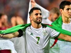Belmadi veut voir Mahrez remporter le trophée. AFP