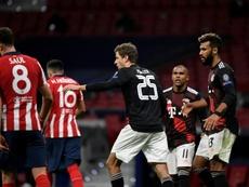O Atlético não consegue vencer o Bayern. EFE
