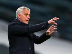 Mourinho volvió a acordarse del Madrid. AFP