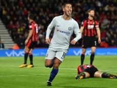Hazard se aleja del Madrid. AFP