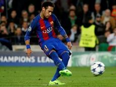 Neymar no falló a la cita con los goles y las asistencias en 'can Barça'. AFP