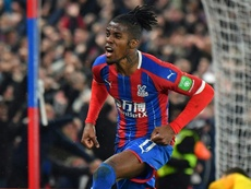 Wilfried Zaha scored for Palace, but it was not enough for the three points. AFP