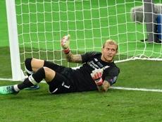 Karius se ve con posibilidades de volver al Liverpool. AFP