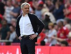 Jose Mourinho e Manchester United. AFP