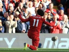 Salah afronta su segunda campaña con el Liverpool. AFP