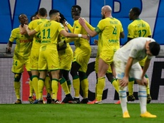 Le FC Nantes intensifie ses entraînements. AFP