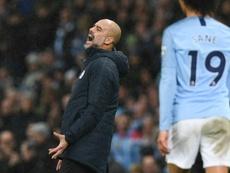 Pep Guardiola se vio superado por el Crystal Palace. AFP