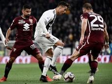 Cristiano Ronaldo, mejor jugador de la Serie A este curso. AFP