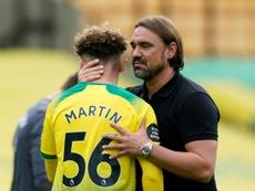 Com quatro gols de Michail Antonio, o Norwich é rebaixado. AFP