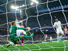 Sergio Ramos evocó la undécima Champions del Madrid. AFP/Archivo
