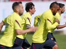 El Barça llegó a tener siete positivos. AFP