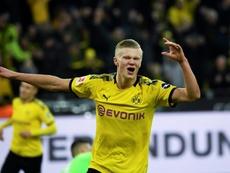 Étrange similarité entre les débuts d'Haaland et Alcacer à Dortmund. AFP
