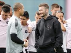 David Beckham, elogiado por Antonio Cassano. AFP