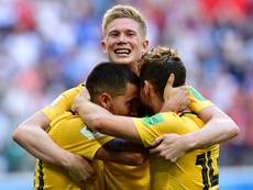 Belgium beat England to secure third place at the 2018 Russia World Cup. AFP