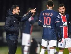 Le PSG continue sa préparation avant le match contre Montpellier. AFP