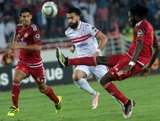 Le joueur du Wydad Athletic Club Amine Atouchi lors d'un match de Ligue des champions africaine. AFP