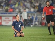 Yoshinori Muto podría firmar como cedido en el Eibar. AFP