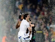 Eto'o rememoró el partido de los aspersores ante el Barcelona. AFP