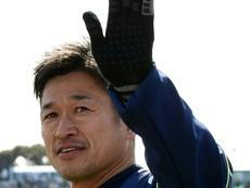 Kazu Miura se retirará (o no) con 53 años. AFP/Archivo
