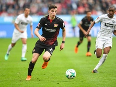 Bayer Leverkusen want 100 million euros for Havertz. AFP
