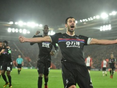 Milivojevic pictured during last season's game against Southampton. AFP