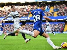 Azpilicueta est un pilier de Chelsea pour l'instant. AFP