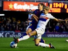 El Barça Femenino se hizo con el título de Liga. AFP