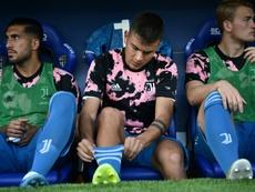 L'undici nella panchina della Juventus. EFE
