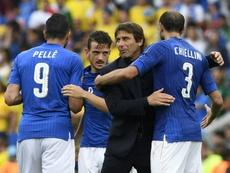 Chiellini no quiere a Conte en Milán. AFP