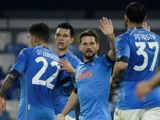 Napoli got a last minute winner at Udinese on Sunday. AFP
